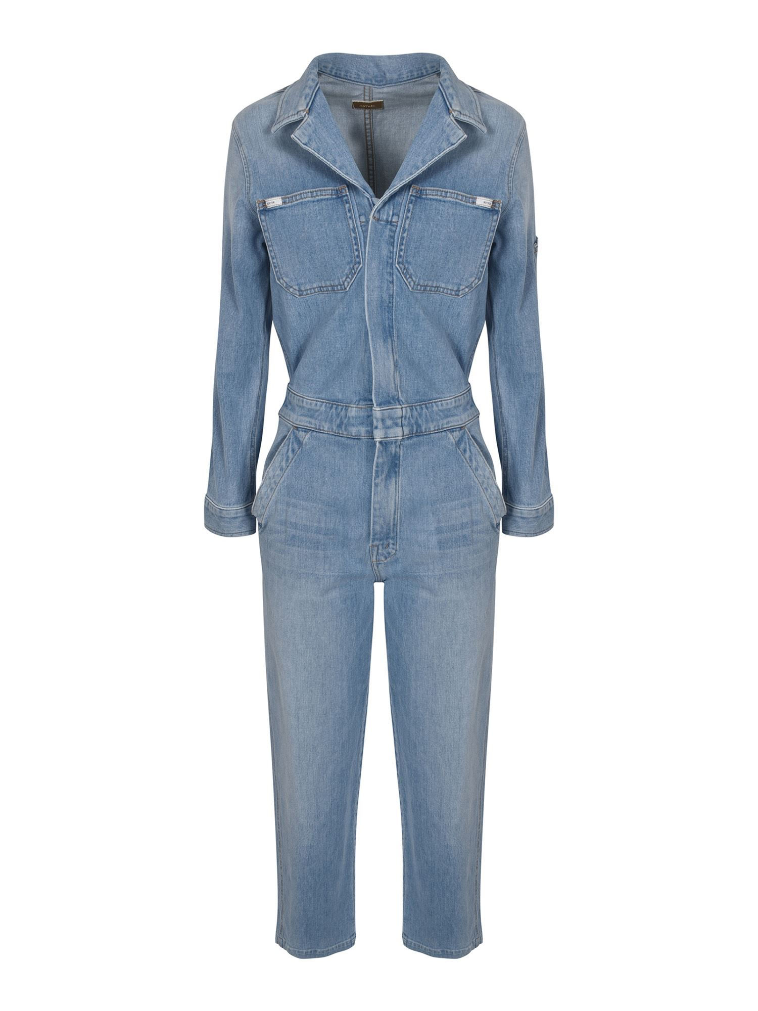 Mother Cottons HALF SPRING TAKE-OFF JUMPSUIT IN LIGHT BLUE