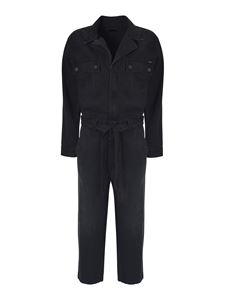 Mother - The Belted Fixer jumpsuit in black