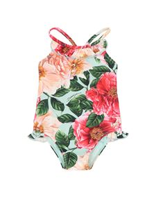 Dolce & Gabbana Jr - Camelie print one-piece swimsuit