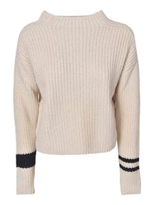 360 Sweater - Marigold sweater in cream and black
