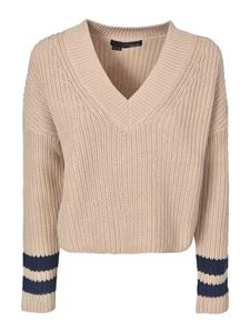 360 Sweater - Calluna sweater in Putty and Navy color