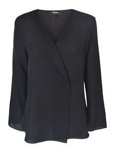 Theory - Silk blouse in black