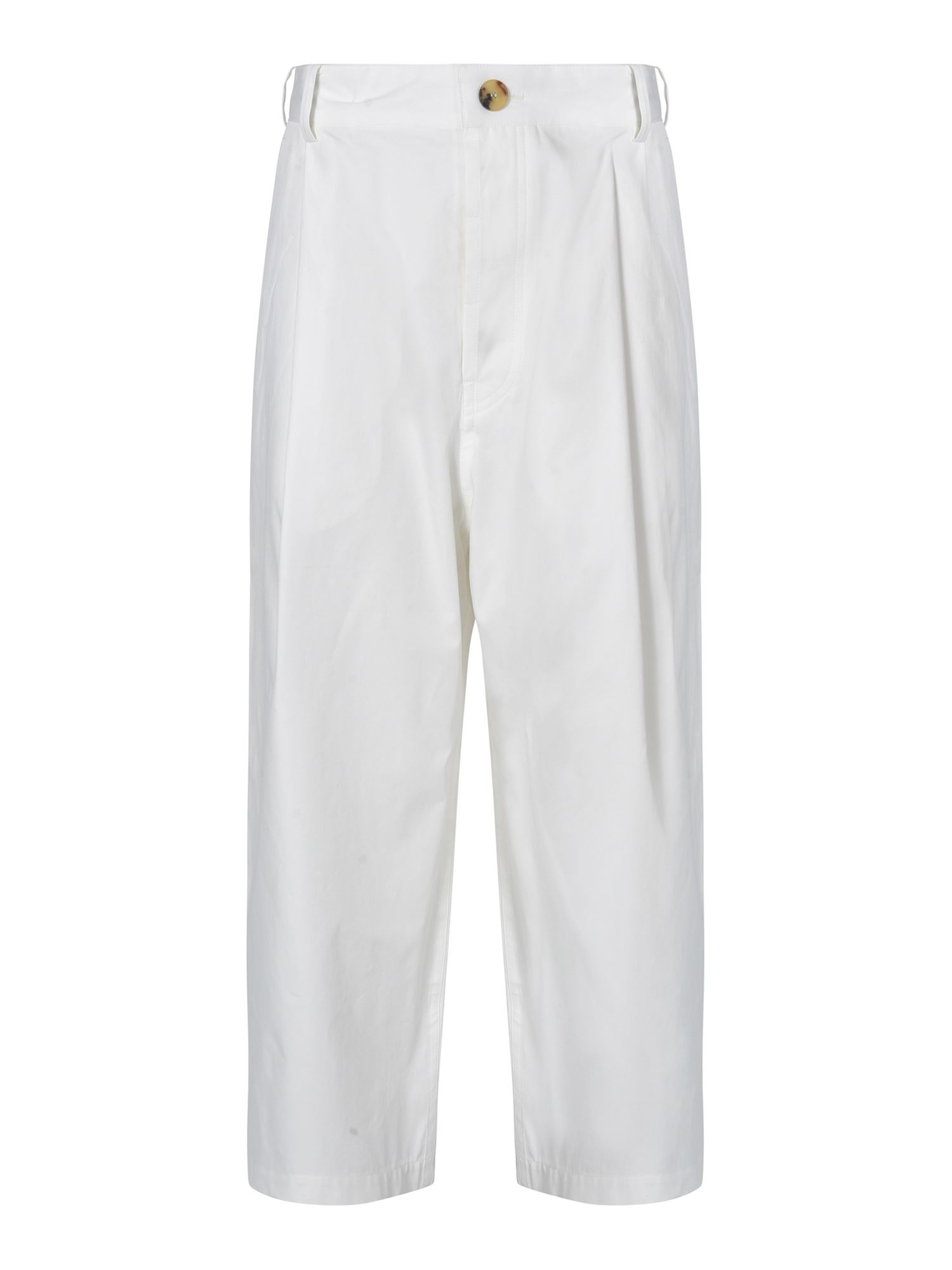 Sofie D'hoore Cottons PROVENCE CASUAL PANTS IN WHITE