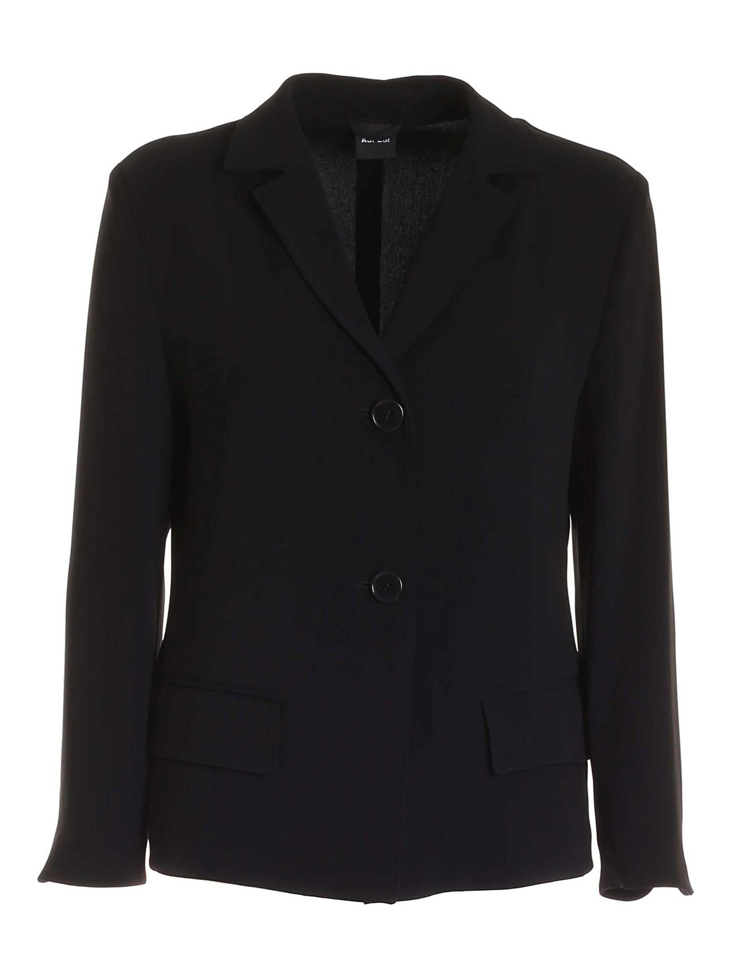 Aspesi SINGLE-BREASTED JACKET IN BLACK