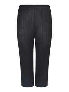 PLEATS PLEASE Issey Miyake - Cropped pleated pants in black