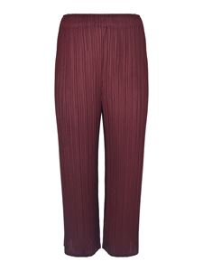 PLEATS PLEASE Issey Miyake - Cropped pleated pants in burgundy