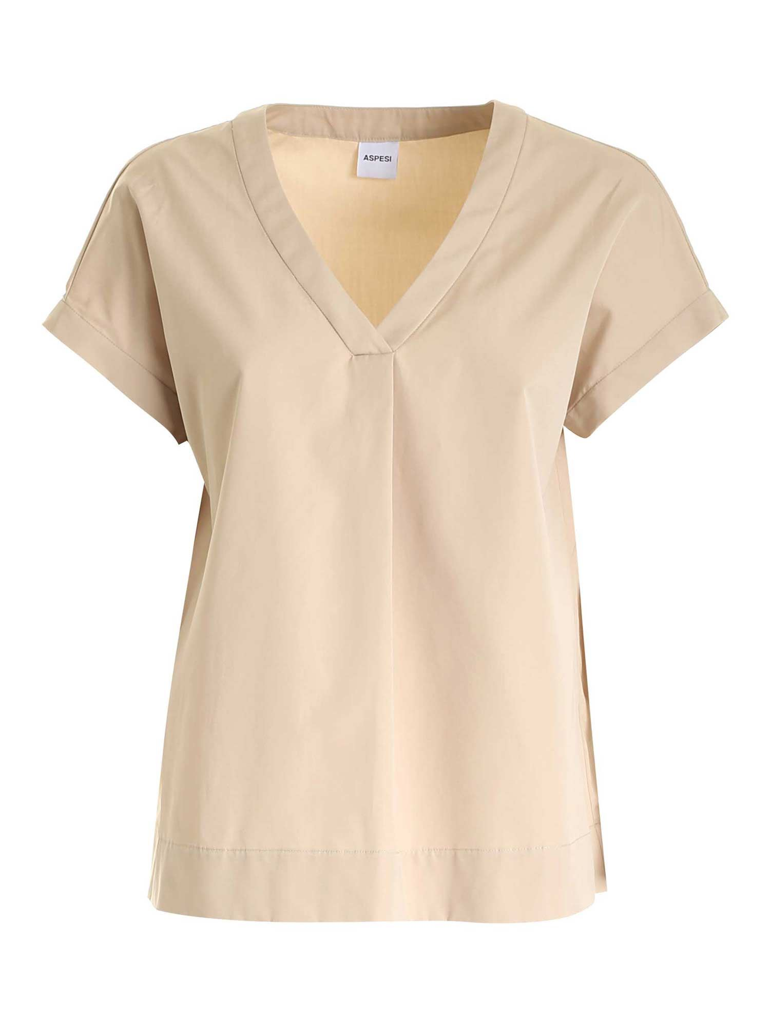 Aspesi RELAXED FIT BLOUSE IN BEIGE