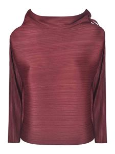 PLEATS PLEASE Issey Miyake - Cantabile pleated blouse in burgundy