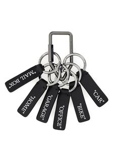 Off-White - Leather key ring in black