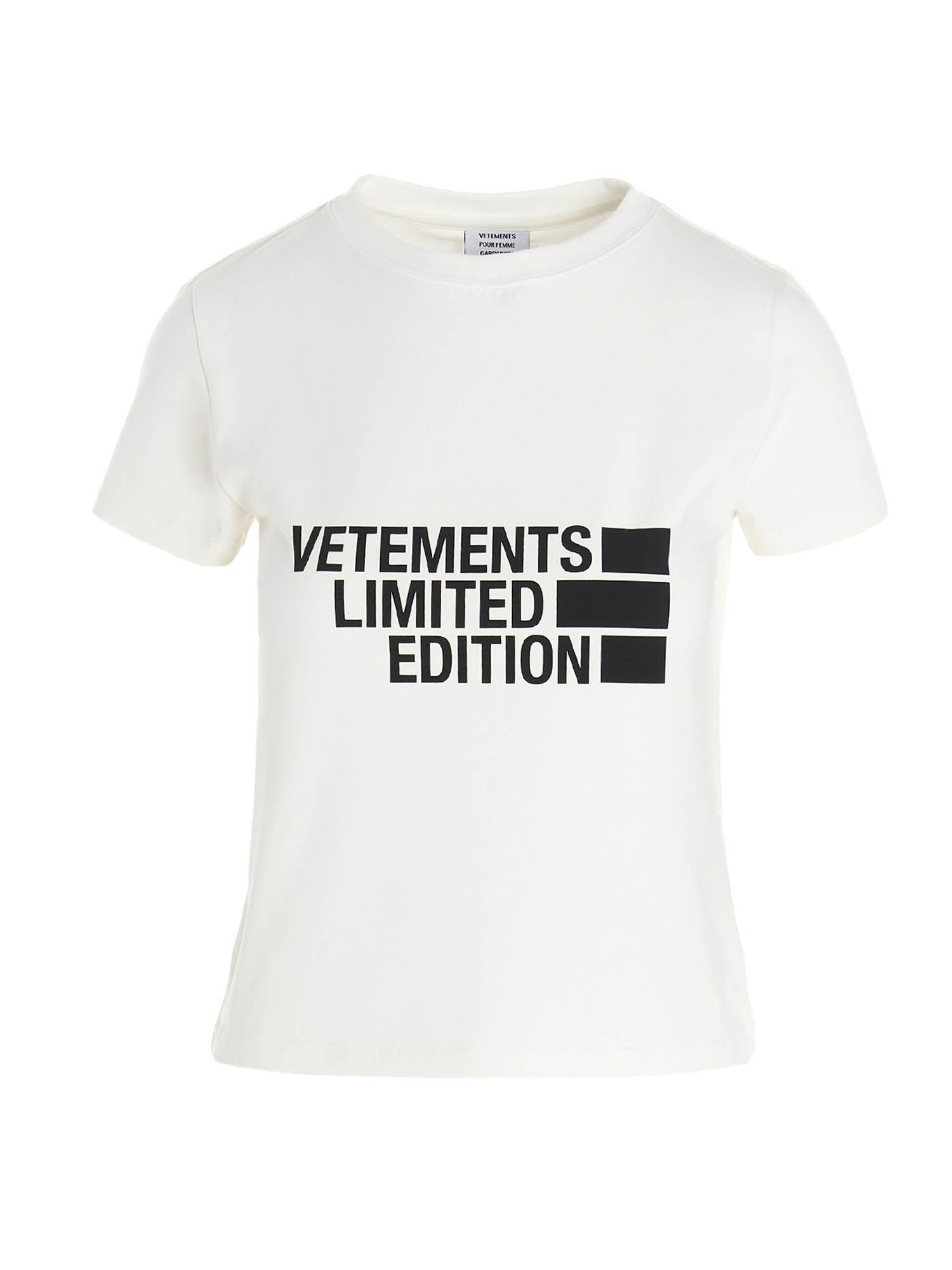 Vetements LIMITED EDITION LOGO T-SHIRT IN WHITE