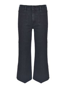 Mother - The Patch Pocket Roller Ankle jeans in black
