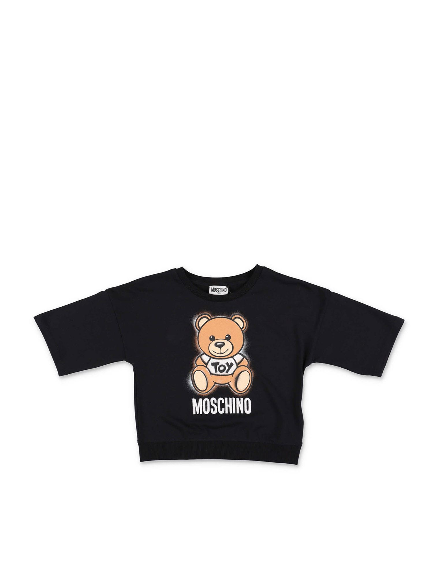 Moschino T-shirts OVERSIZED T-SHIRT IN BLACK