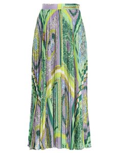 Versace - Barocco print multicolor pleated skirt