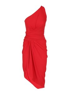 Alexandre Vauthier - Stretch viscose one-shoulder dress in red