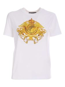 Versace Jeans Couture - Rhinestones T-shirt in white