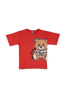 Moschino Kids - Spray Teddy Bear Maxi T-Shirt in red