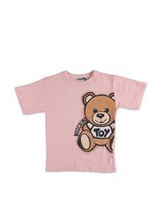 Moschino Kids - Spray Teddy Bear Maxi T-Shirt in pink