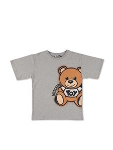 Moschino Kids - Maxi T-Shirt Spray Teddy Bear grigia