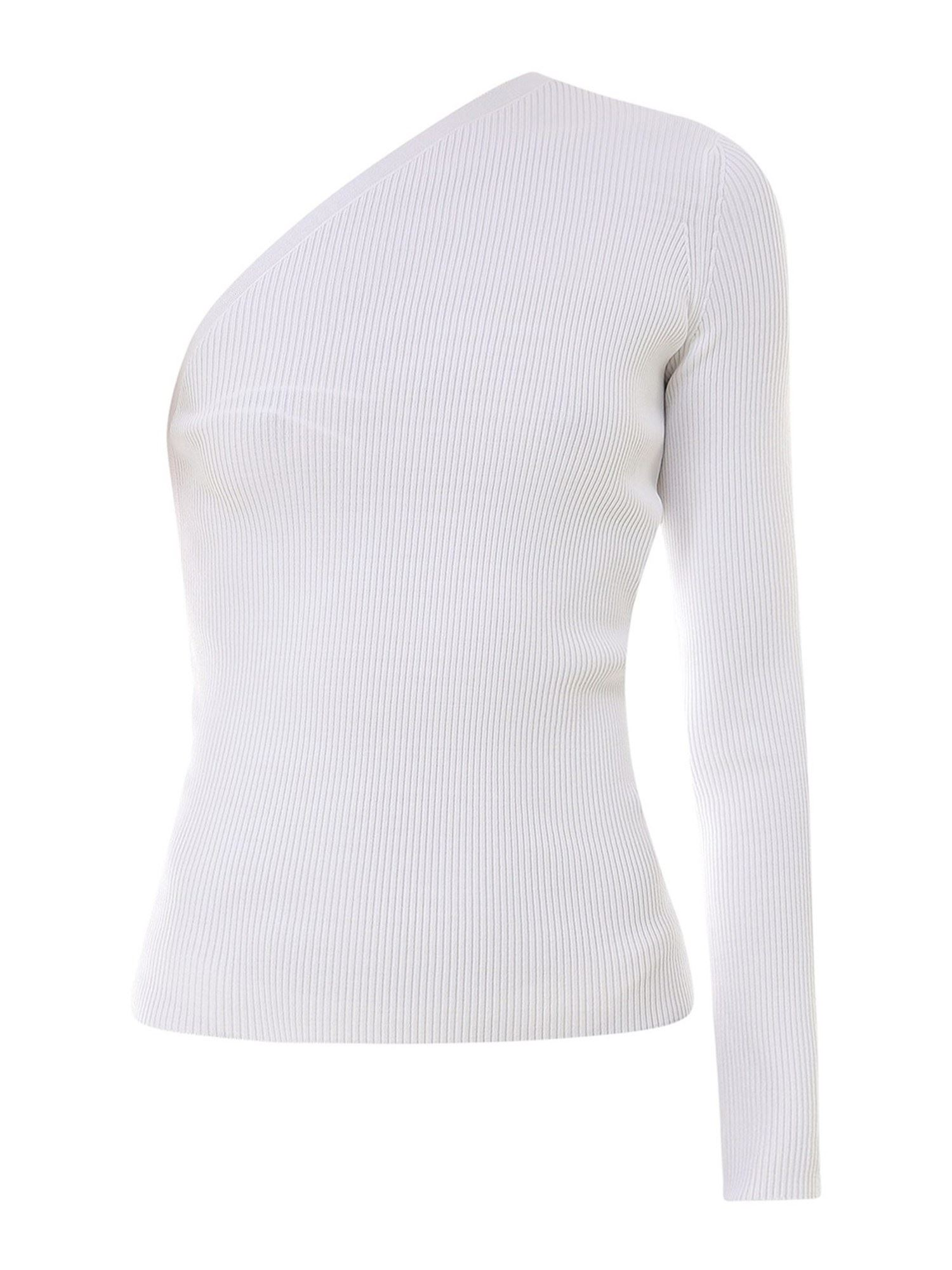 Sportmax ONE SHOULDER TOP IN WHITE