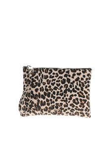Gum Gianni Chiarini - Numbers animal print clutch bag