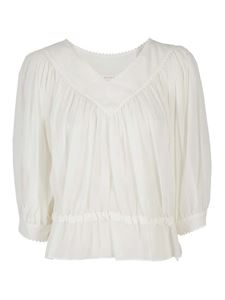 See by Chloé - Muslin blouse in white