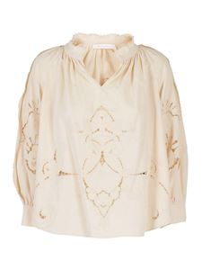 See by Chloé - Linen blouse in cream color