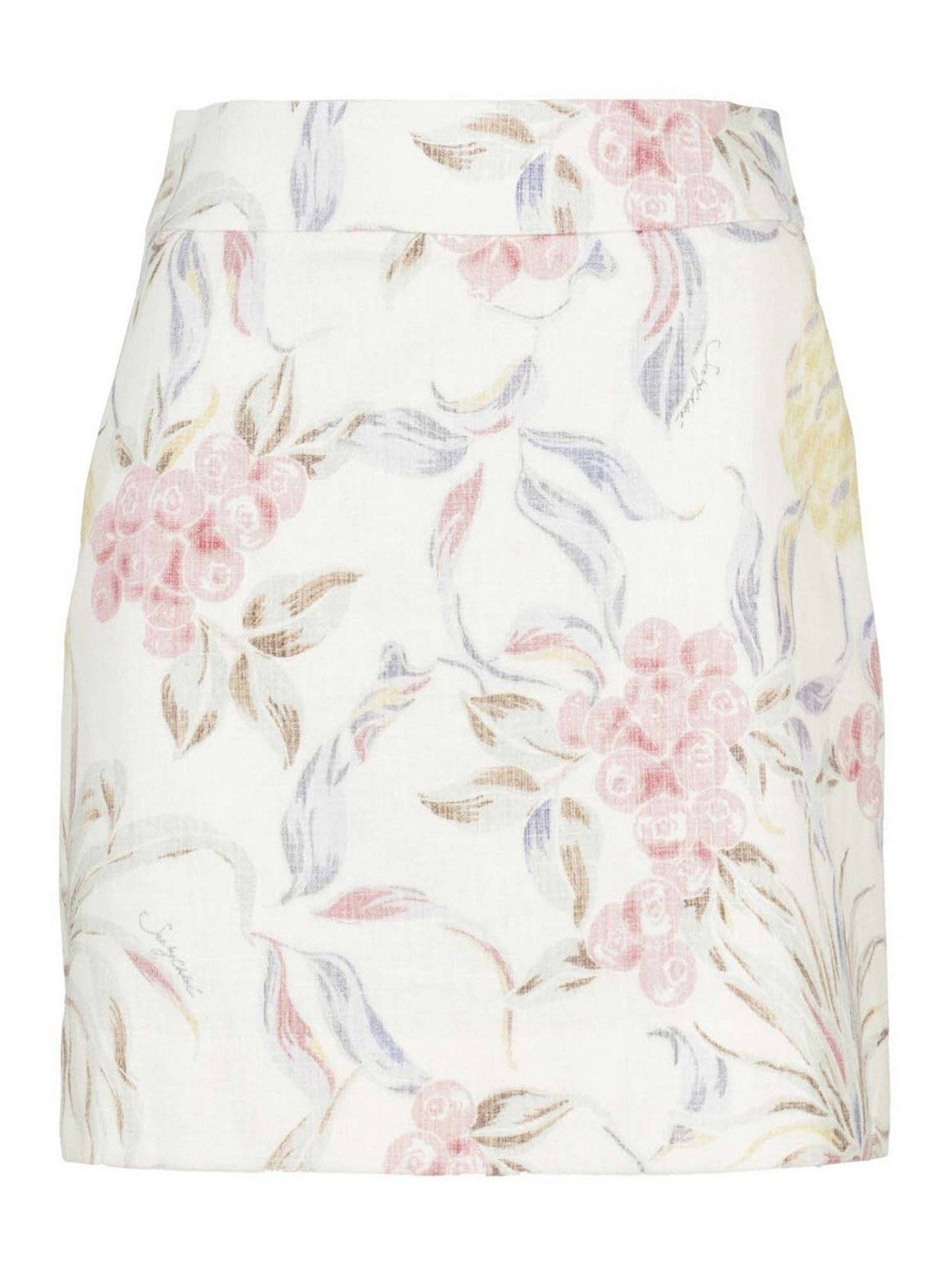 See By Chloé FLORAL PATTERNED DOME SKIRT IN WHITE