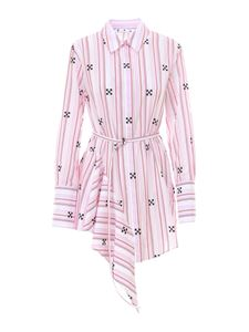 Off-White - Striped ruffled shirt in pink