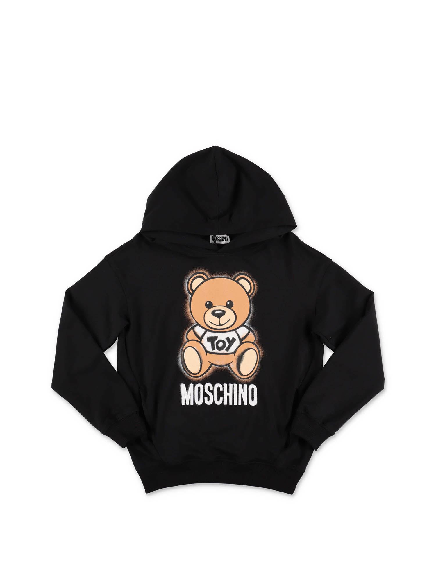 Moschino TEDDY HOODIE IN BLACK