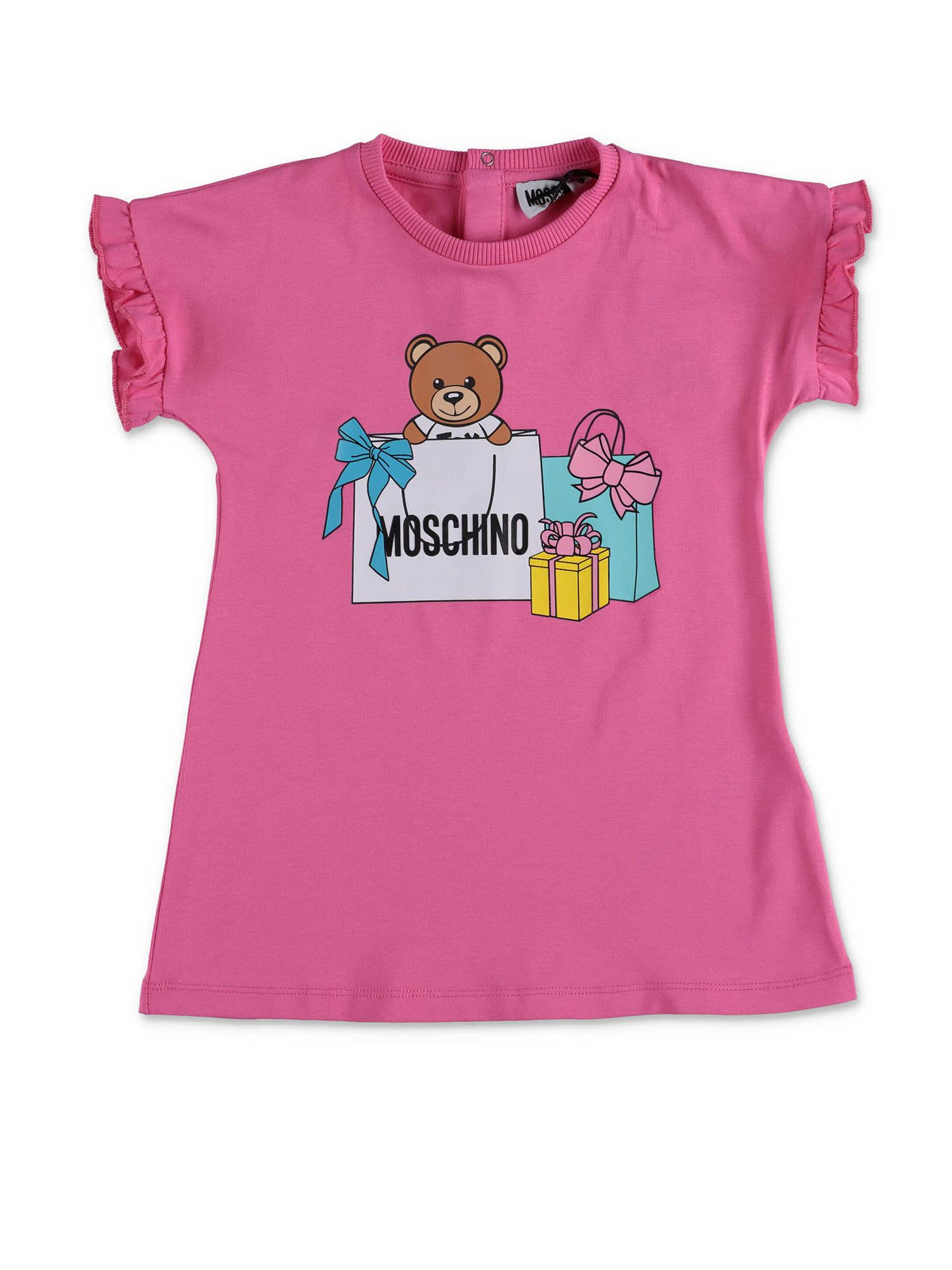 Moschino TEDDY DRESS IN PINK