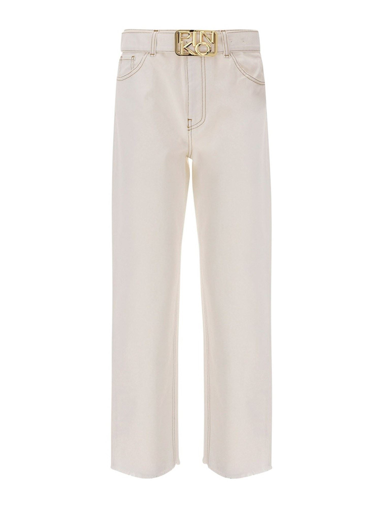 PINKO PINKO DENIM JEANS IN WHITE