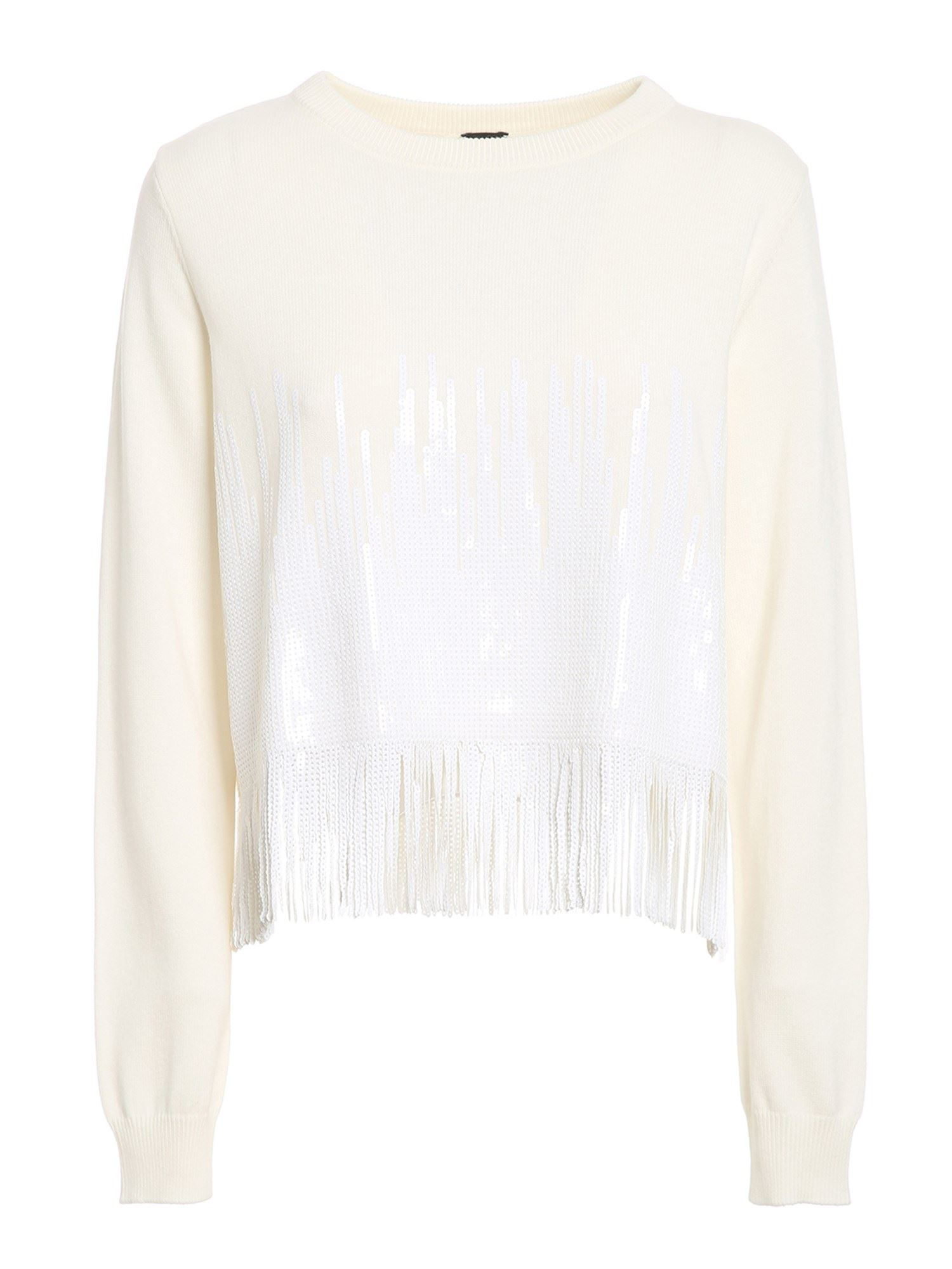 PINKO PINKO SNOWBOARD SWEATER IN WHITE