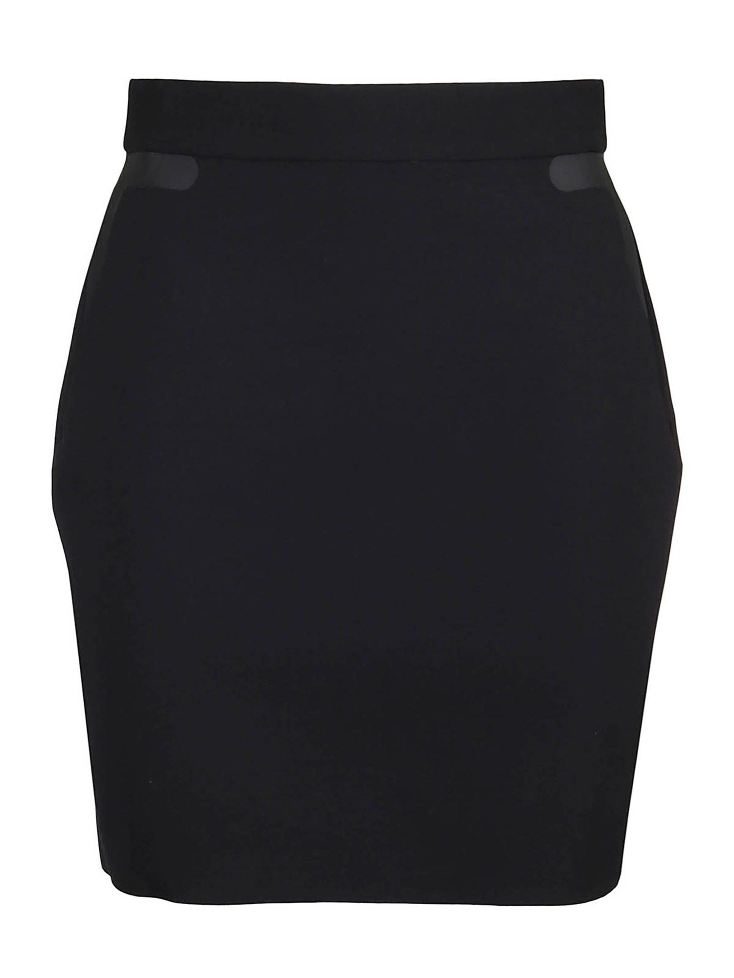 Dsquared2 WOOL STRETCH DOME SKIRT IN BLACK