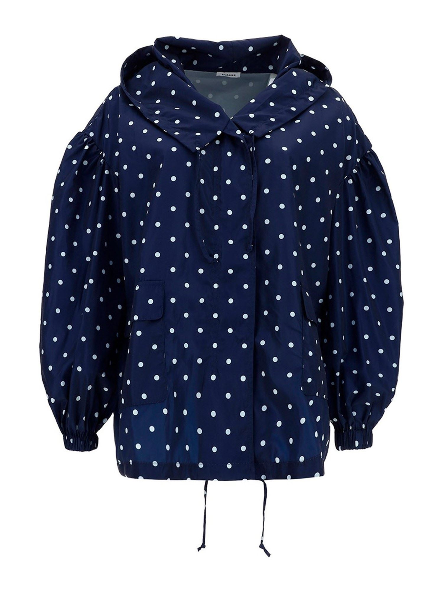 P.a.r.o.s.h. POLKA DOT PATTERNED JACKET IN BLUE