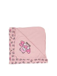 Moschino Kids - Teddy Bear printed blanket in pink