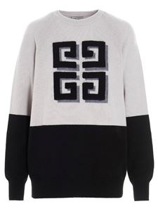 Givenchy - Two-tone 4G sweater in gray
