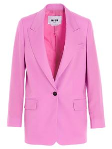 MSGM - Cool wool jacket in pink