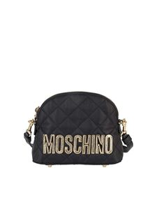 Moschino - Quilted fabric cross body bag in black