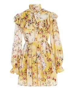 MSGM - Floral dress in yellow