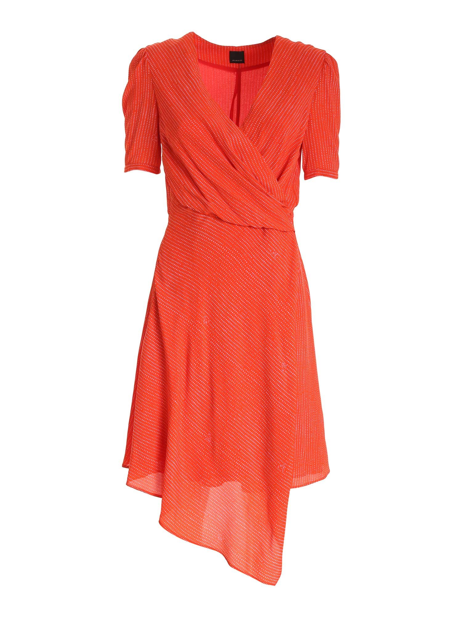 Pinko Dresses PINKO MAGIO DRESS IN CORAL RED