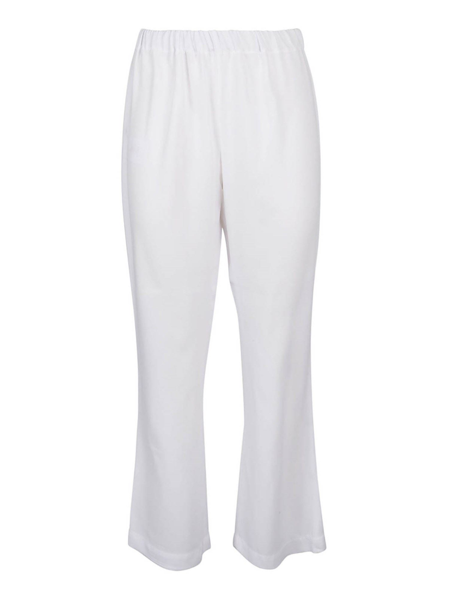 Marni VISCOSE BLEND TROUSERS IN WHITE