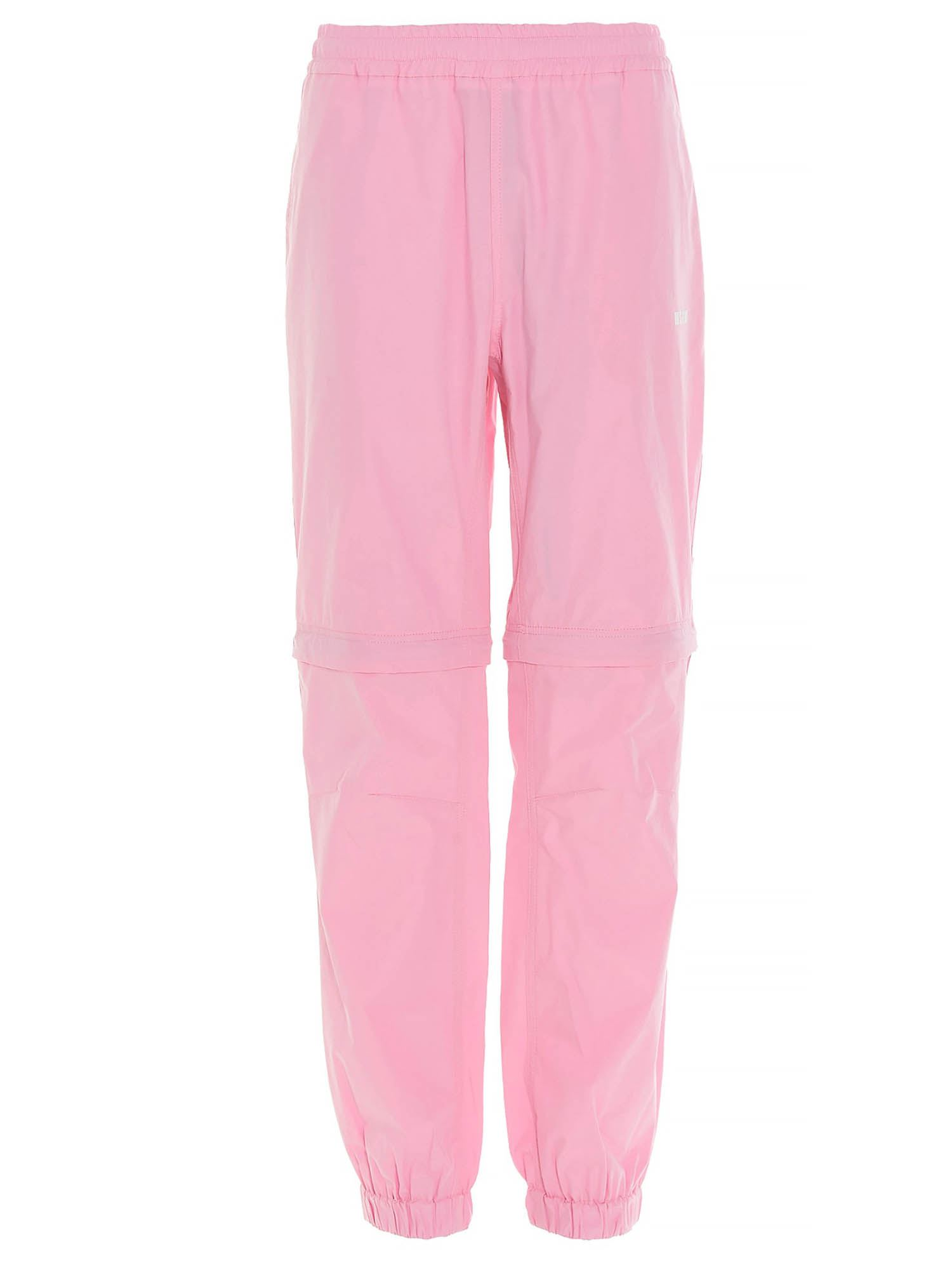 Msgm Cottons ZIPPERED PANTS IN PINK