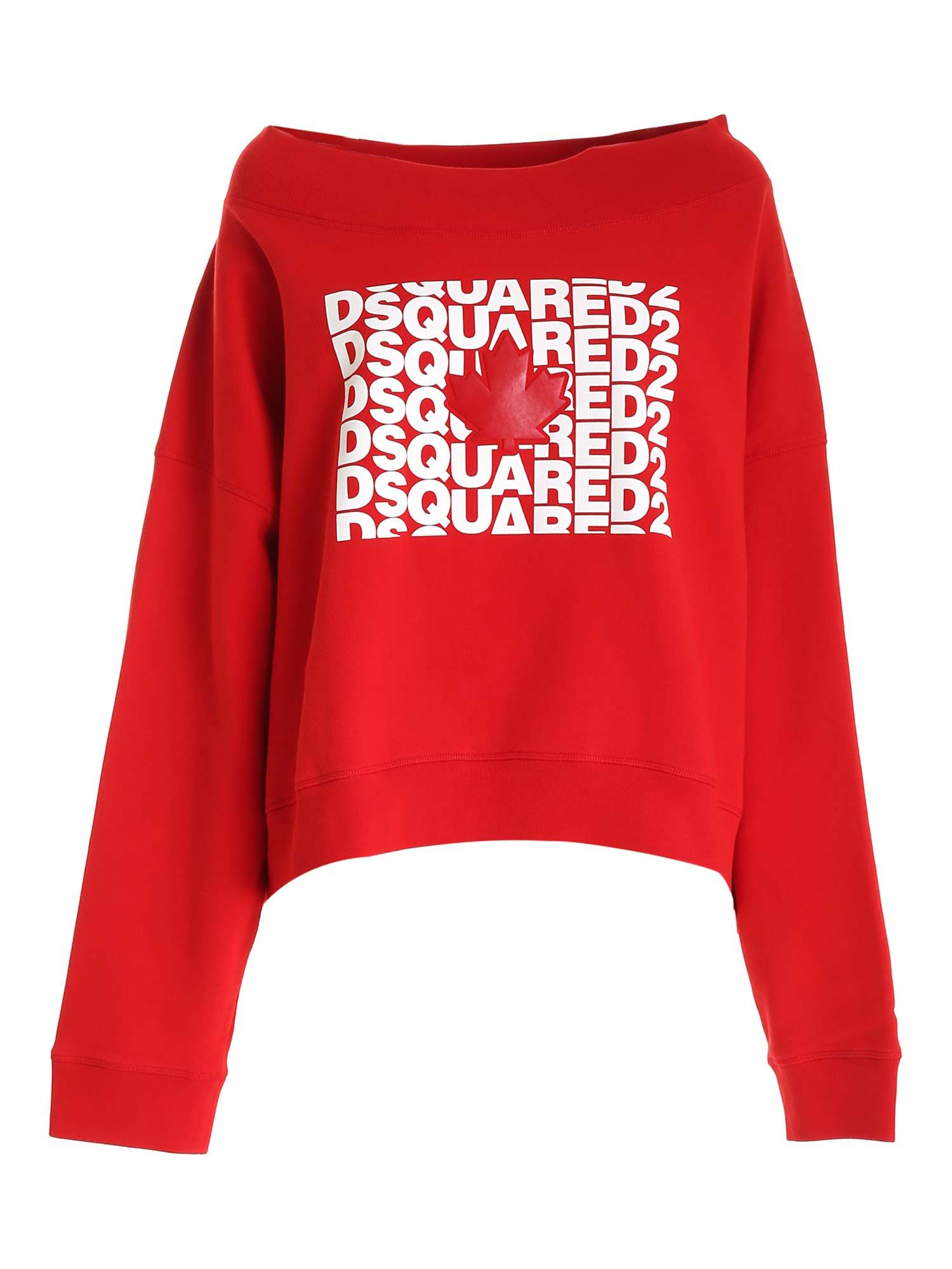 Dsquared2 OVERSIZED LOGO SWEATSHIRT IN RED