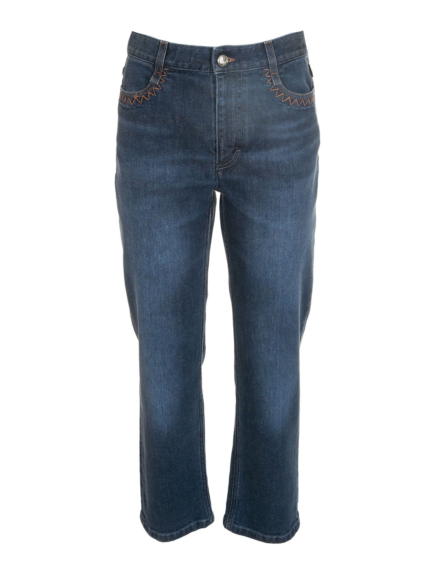 Chloé CROPPED JEANS IN BLUE