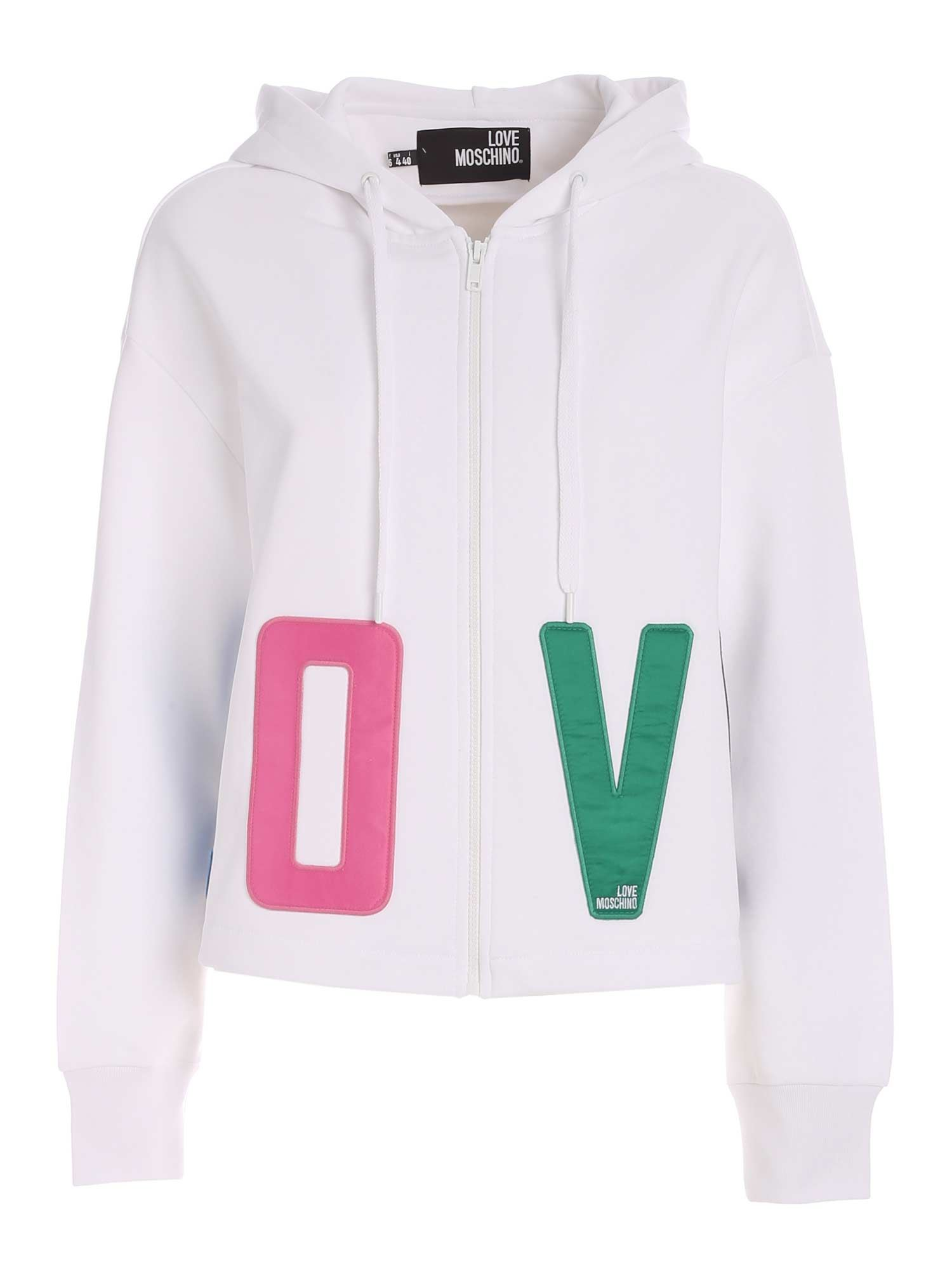 Love Moschino LOVE OVERSIZE SWEATSHIRT IN WHITE