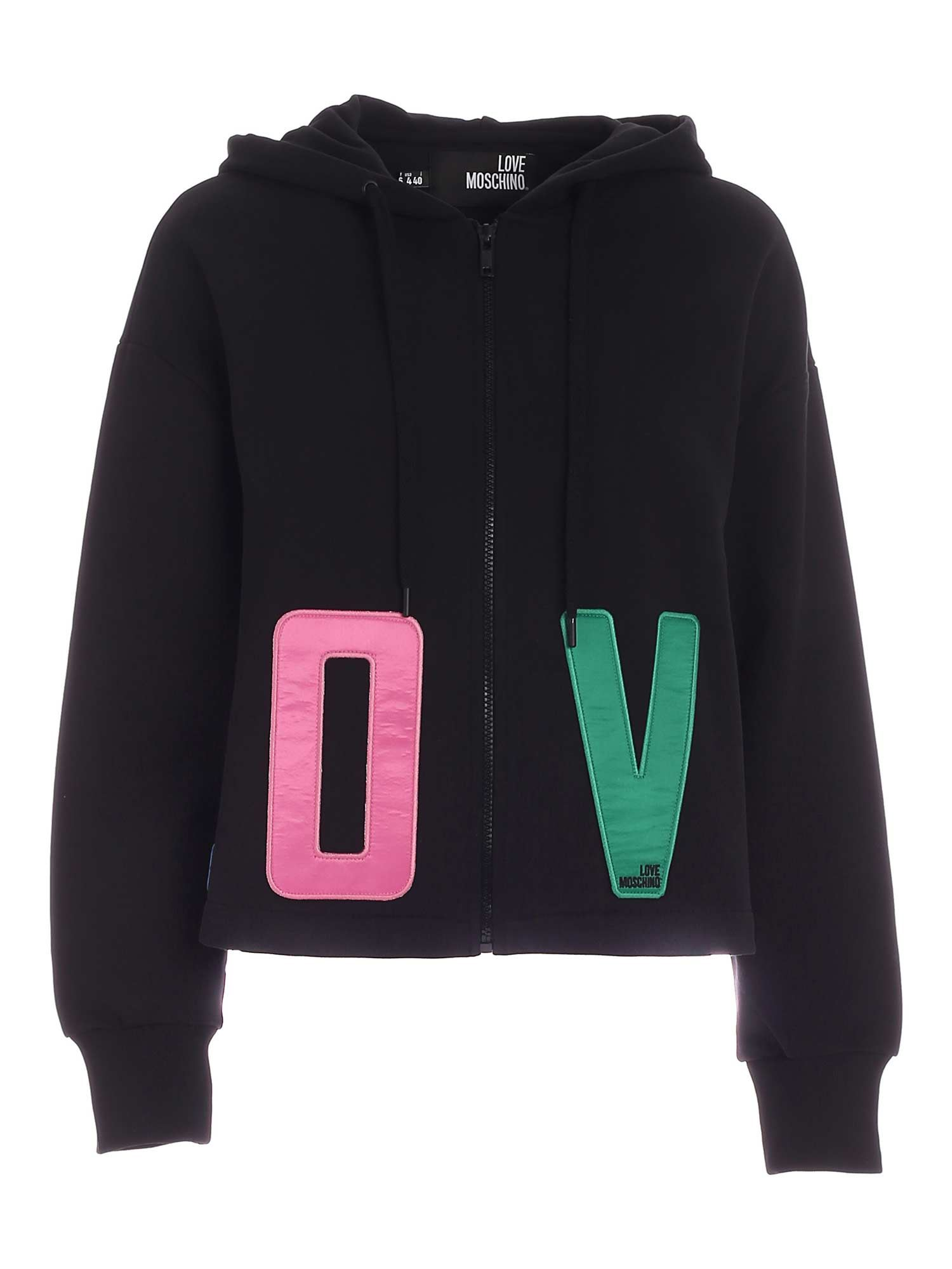 Love Moschino LOVE OVERSIZE SWEATSHIRT IN BLACK