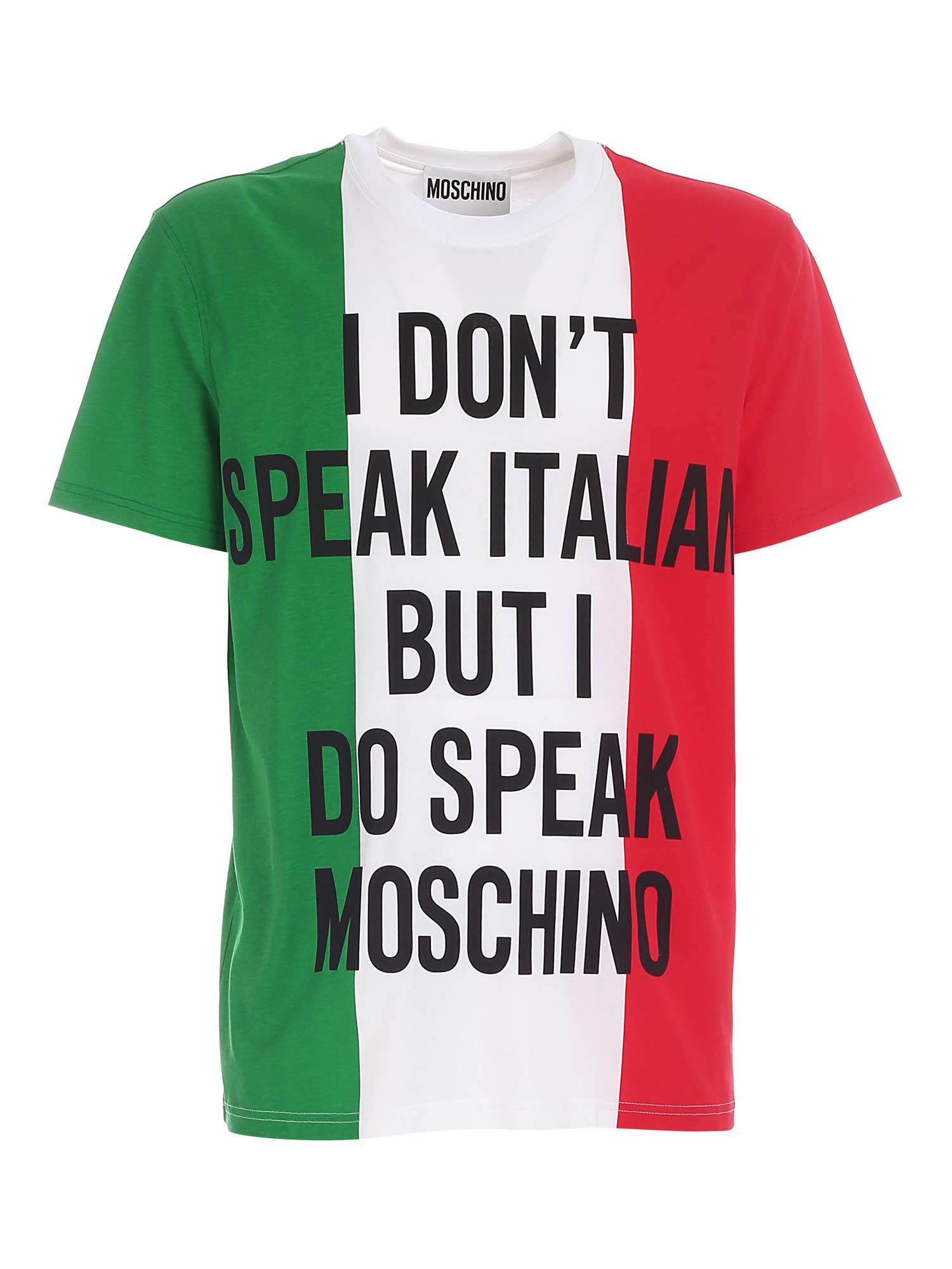 Moschino CONTRASTING PRINT MULTICOLOR T-SHIRT