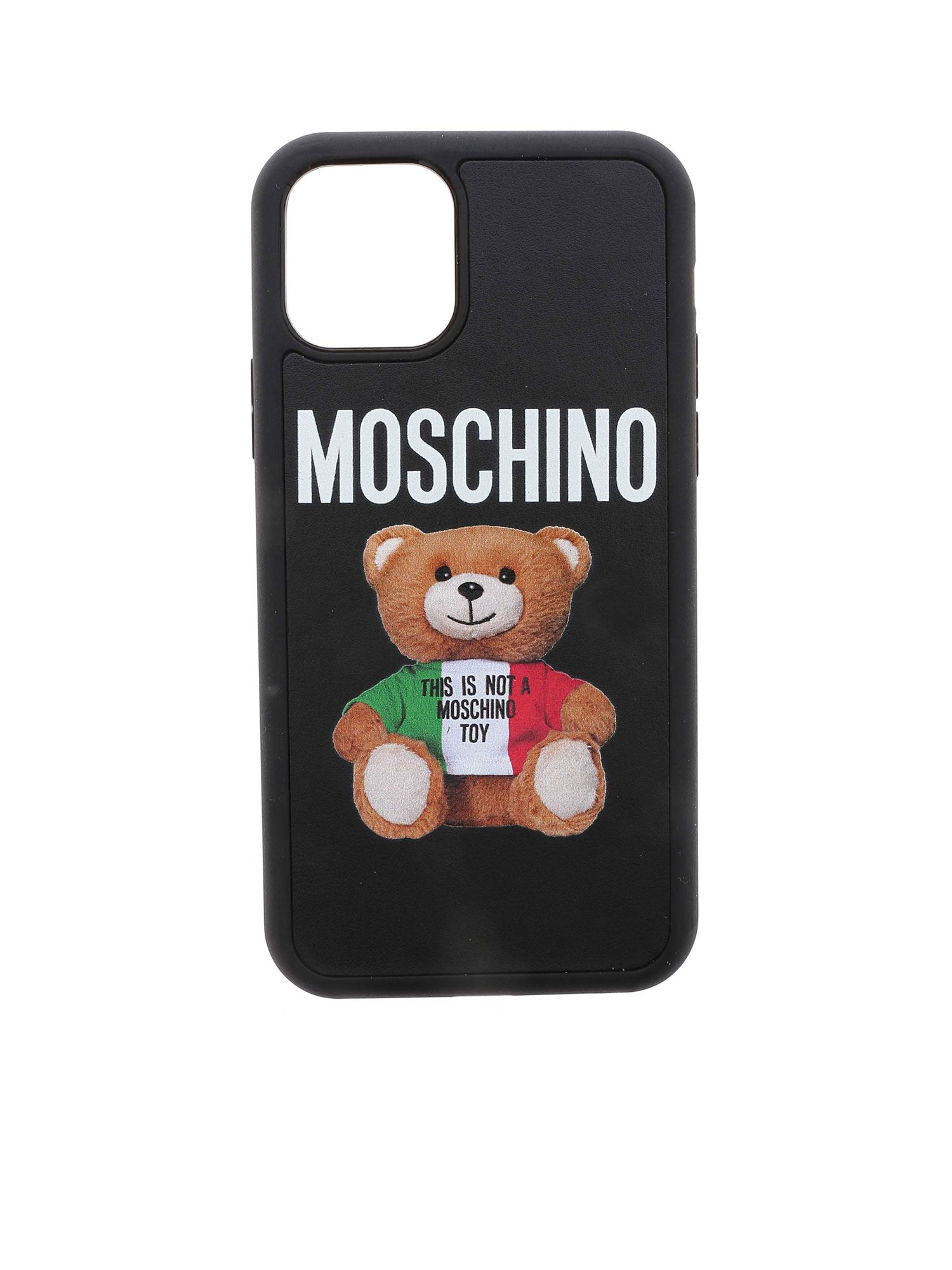 Moschino ITALIAN TEDDY BEAR 11 PRO IPHONE COVER IN WHITE