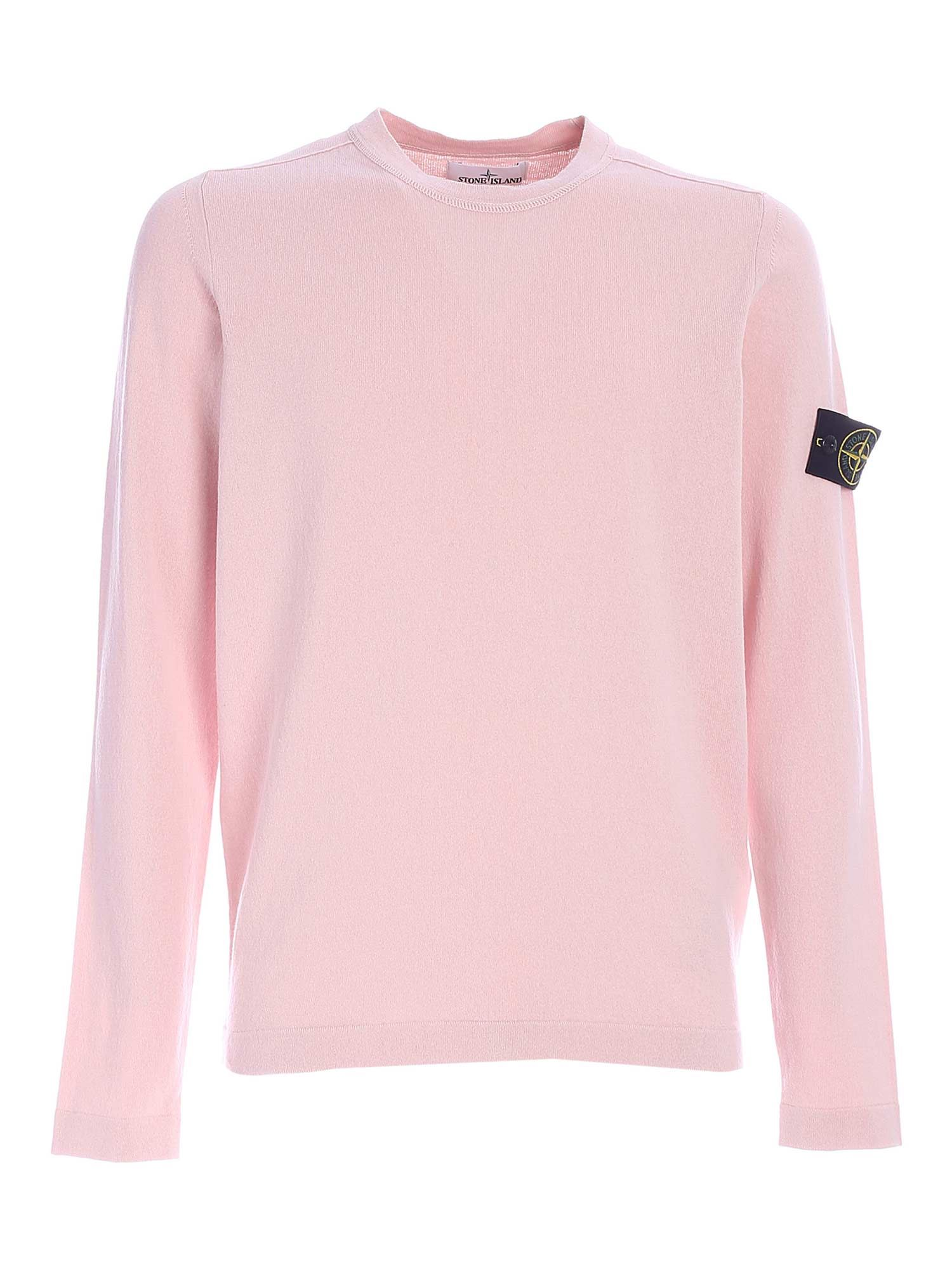 Stone Island COTTON SWEATER IN PINK