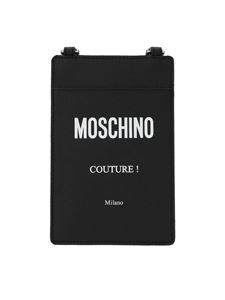 Moschino - Shoulder strap Couture card holder in black